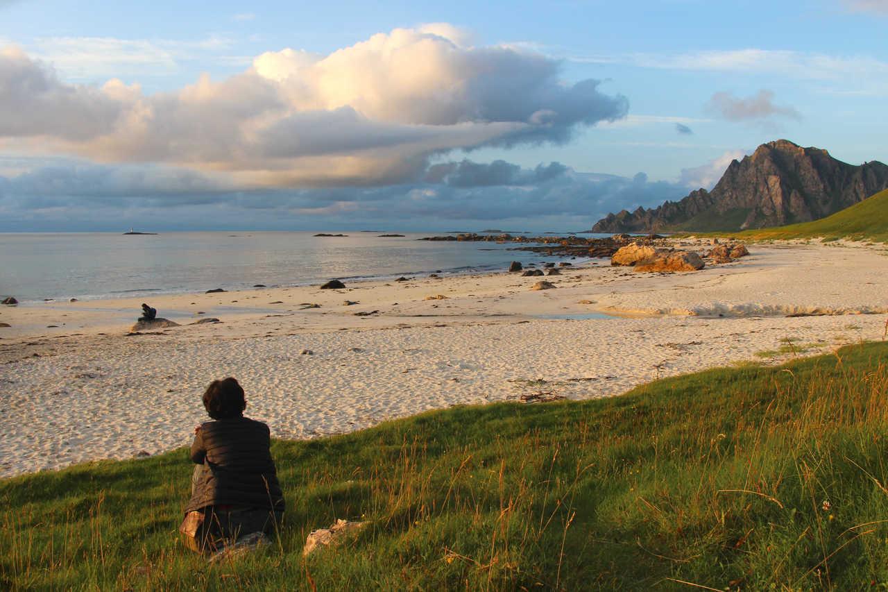 Méditation sur une plagede Norvège du Nord