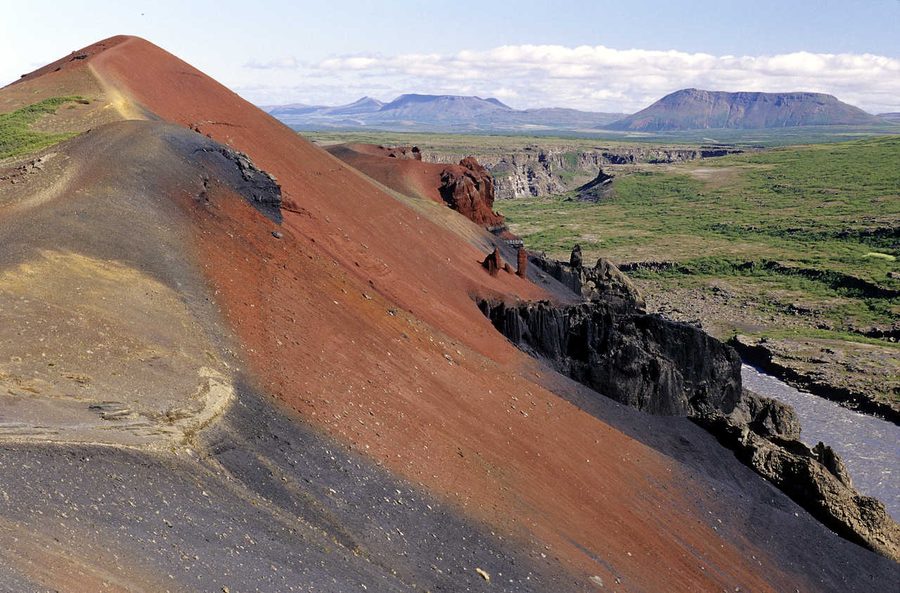 Montagnes de Myvatn en Islande