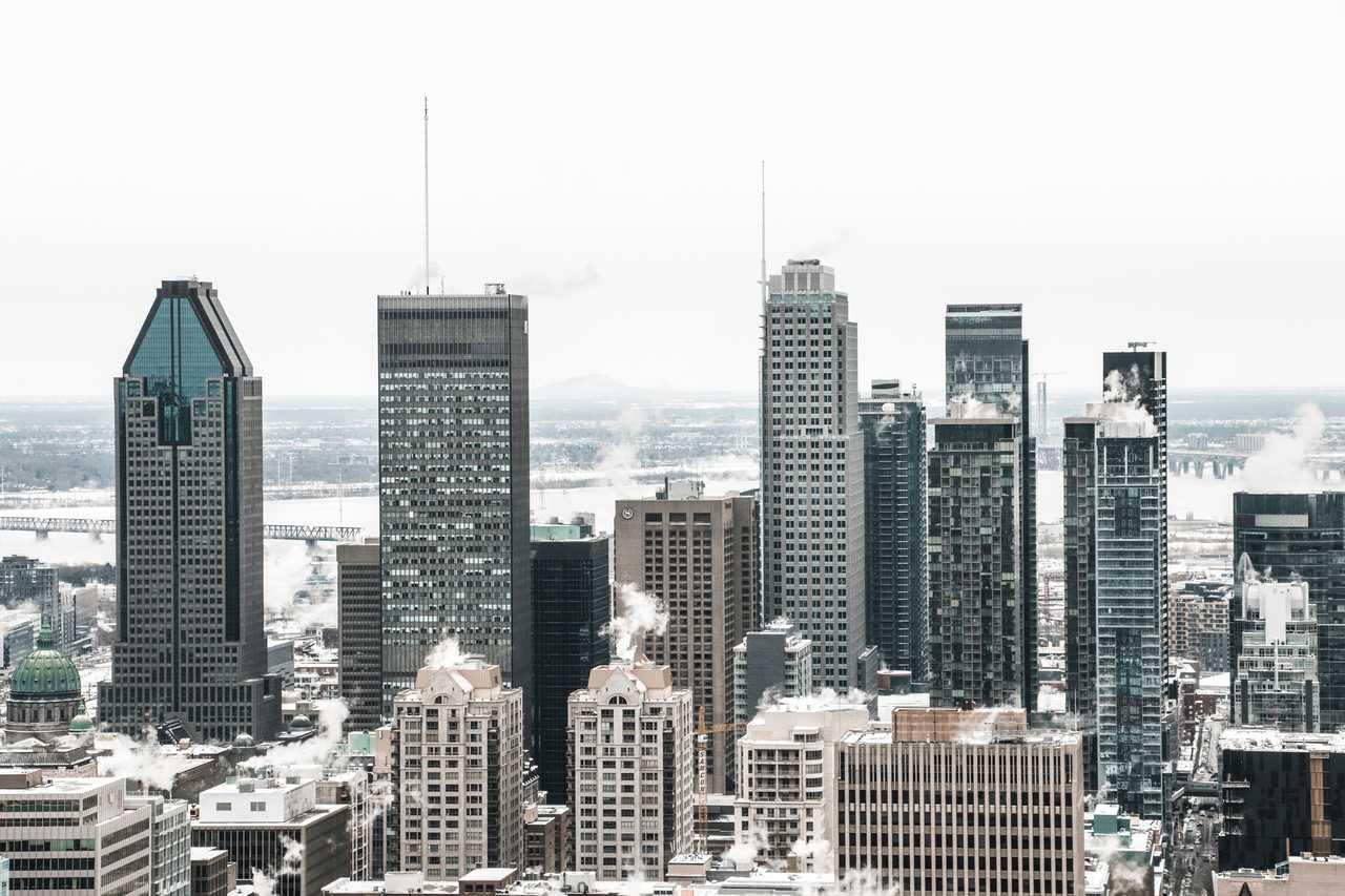 Montréal l'hiver sous la neige