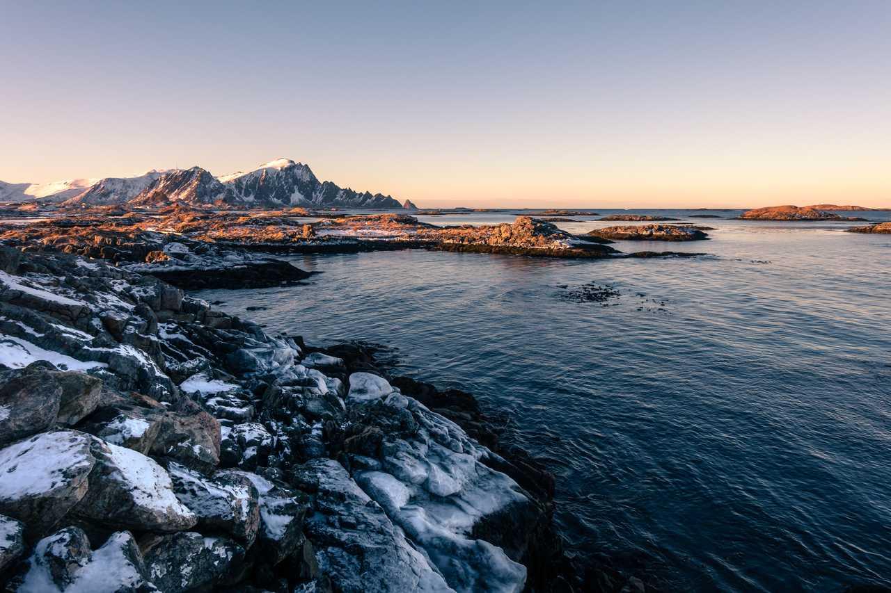 Norvège du Nord l'hiver