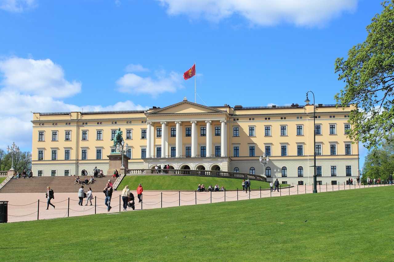 Palais du roi et de la reine à Oslo