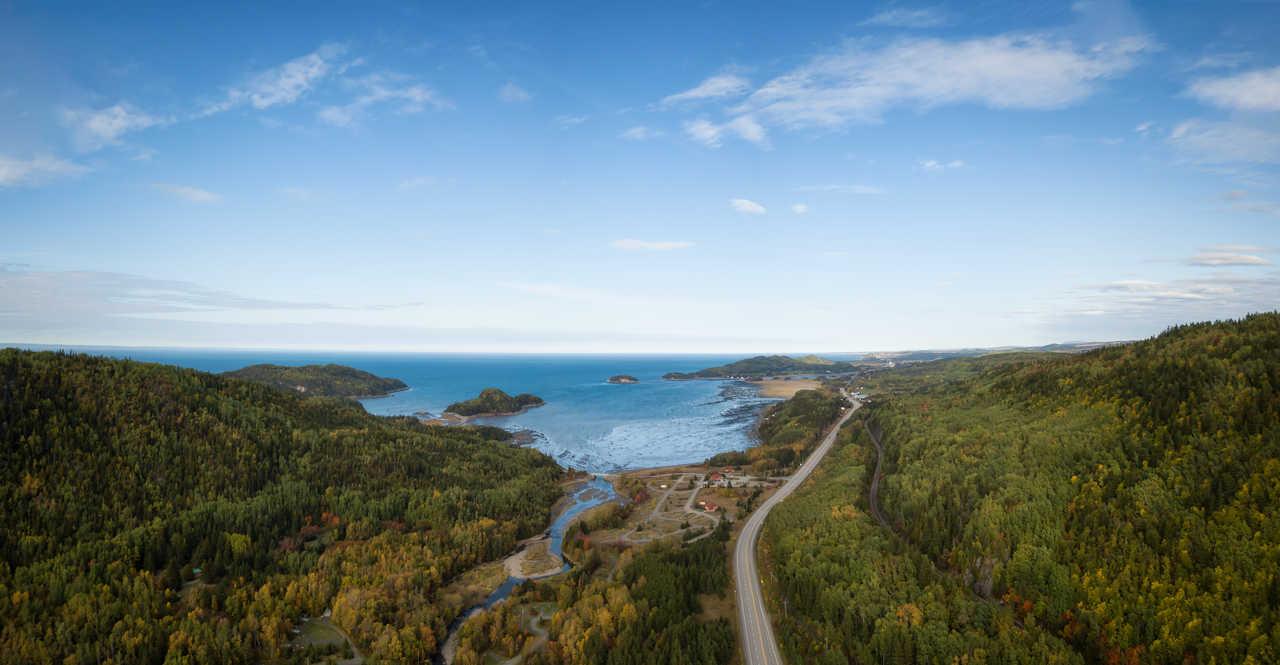 Parc du Bic, vue sur l'océan Atlantique depuis le Québec