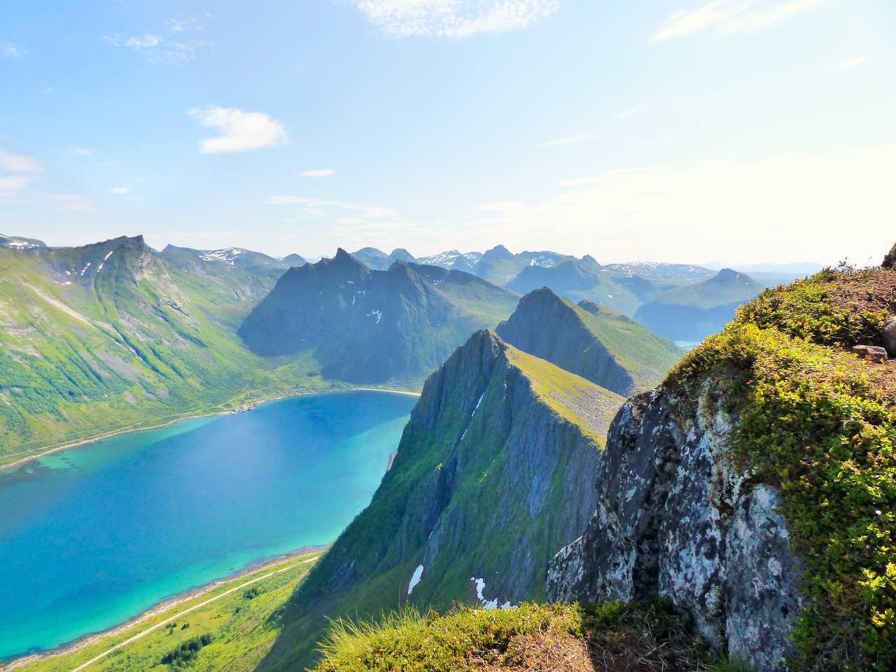 Paysage de Norvège l'été