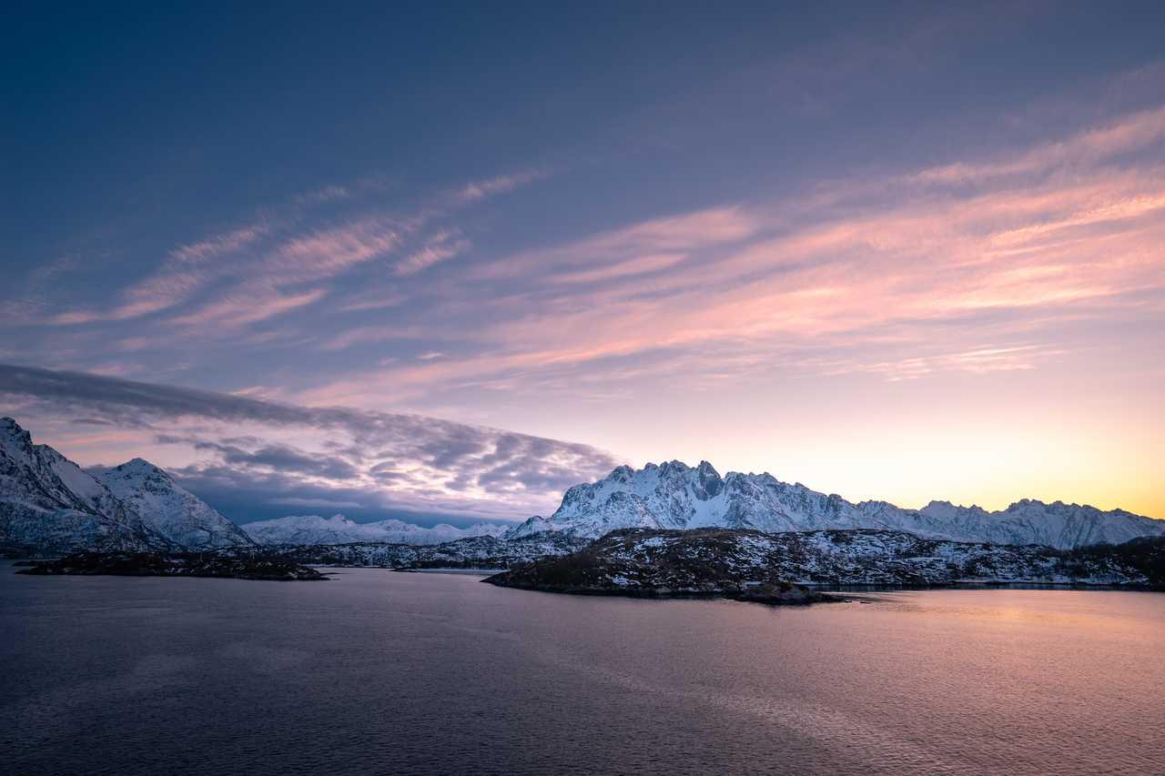 Paysage de Norvège l'hiver