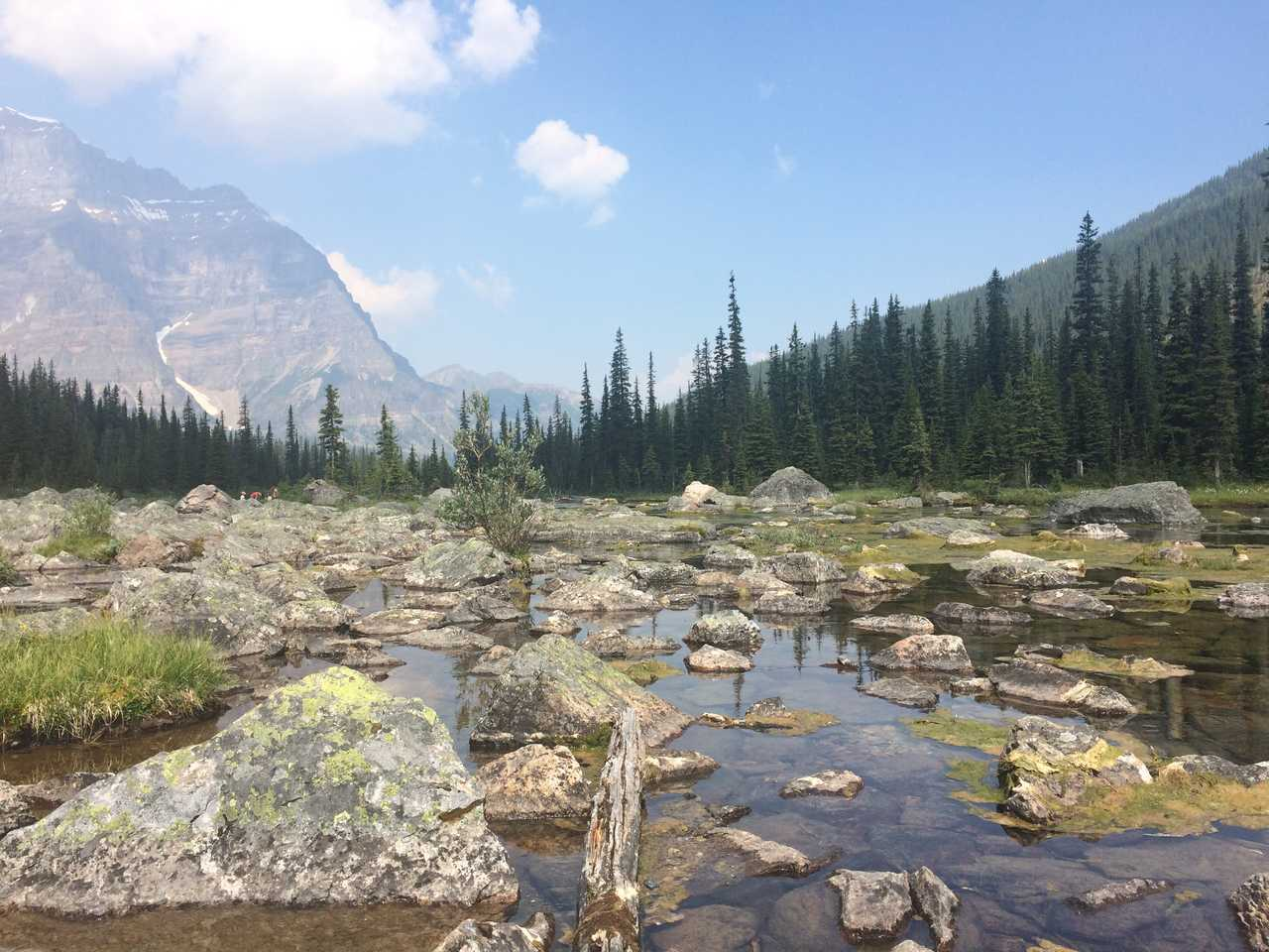 Paysage du parc de Banff au Canada