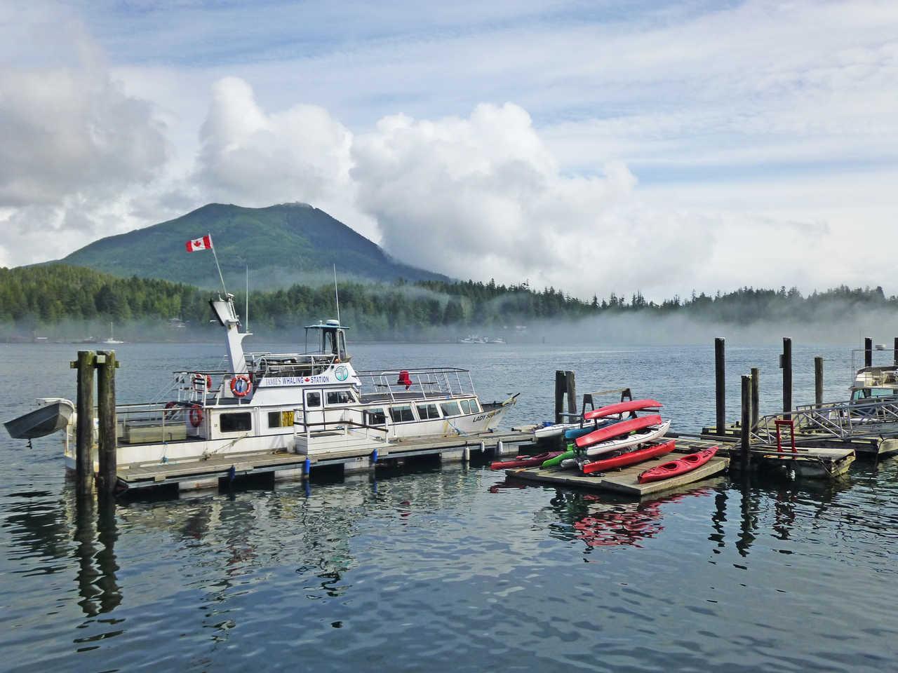 Port de Ucluelet sur l'île de Vancouver