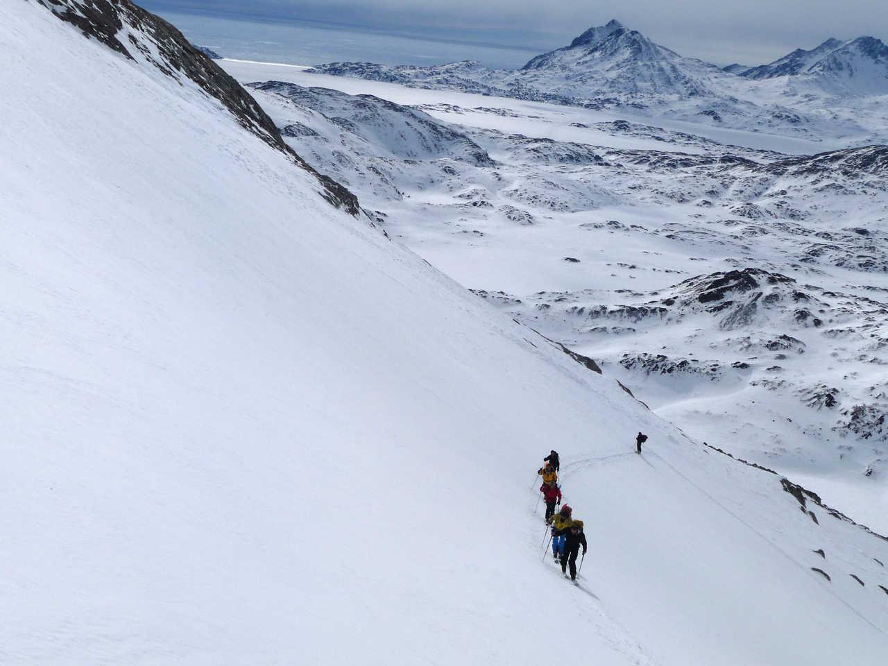 Raid à Ski au Groenland l'hiver