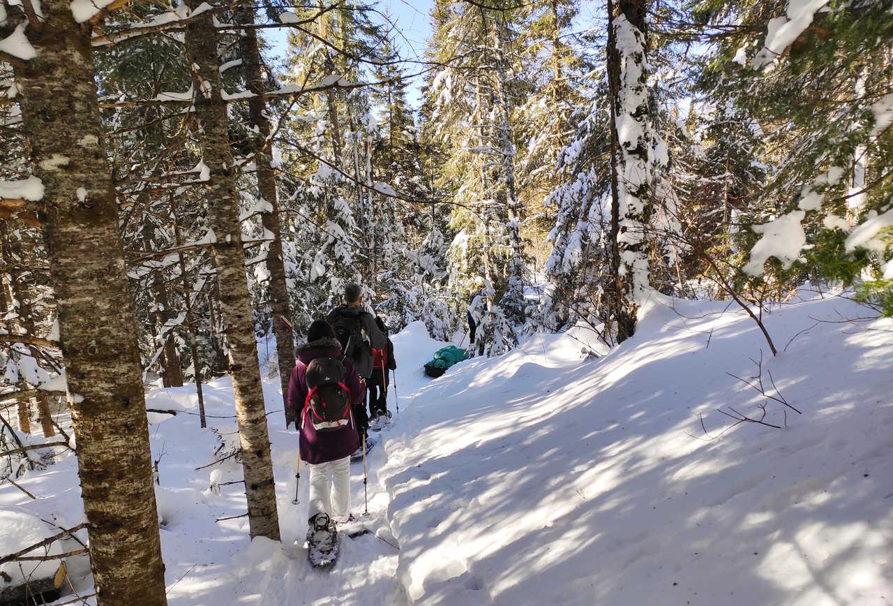 Raid raquettes au Canada l'hiver