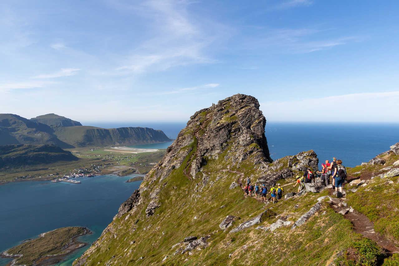 Randonnée du Volandstinden, îles Lofoten, Norvège
