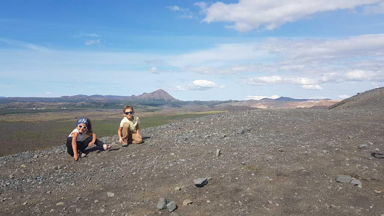 Randonnée avec des enfants sur la côte sud de l'Islande