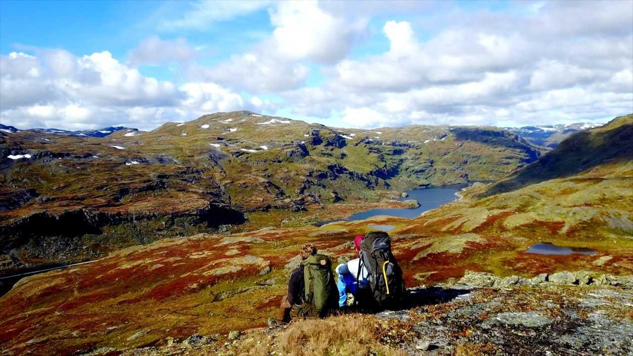 Randonnée l'automne en Norvège