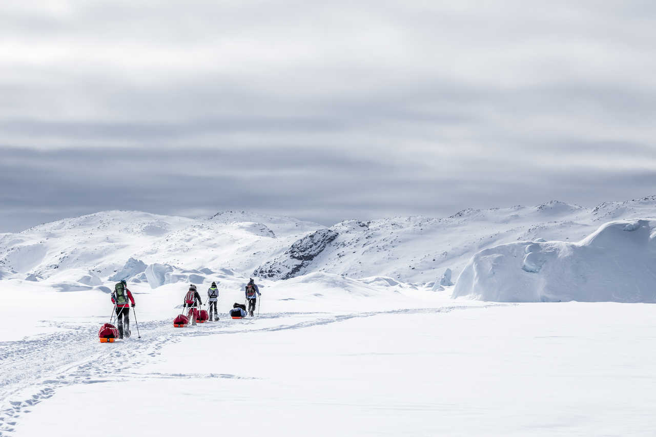 Randonnée raquettes banquise Groenland
