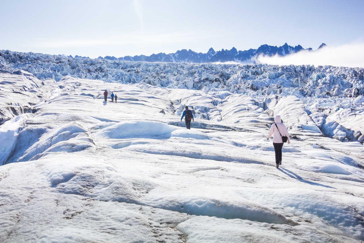 Randonnée sur glacier, Arctique, Svalbard