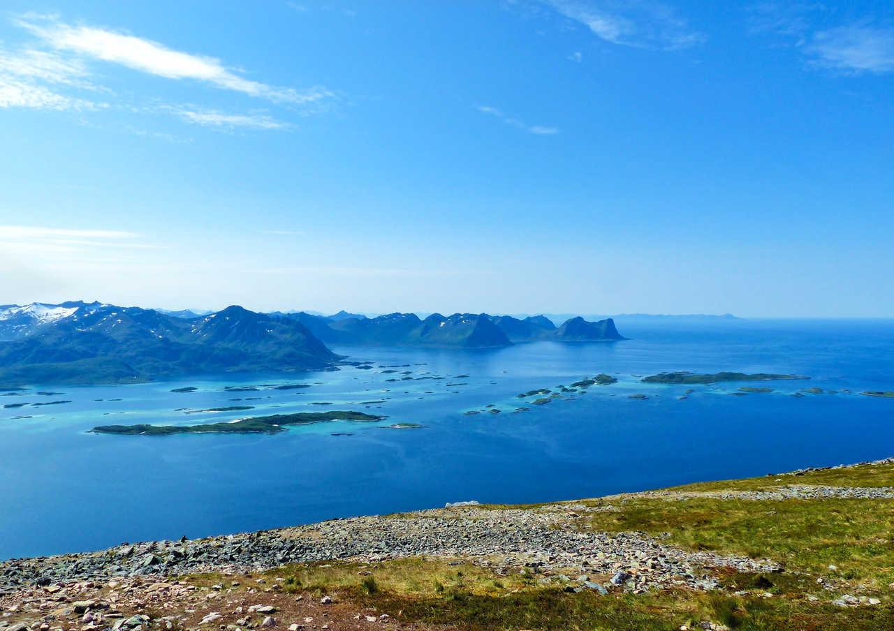 Randonnée sur l'île de Senja, Nord de la Norvège