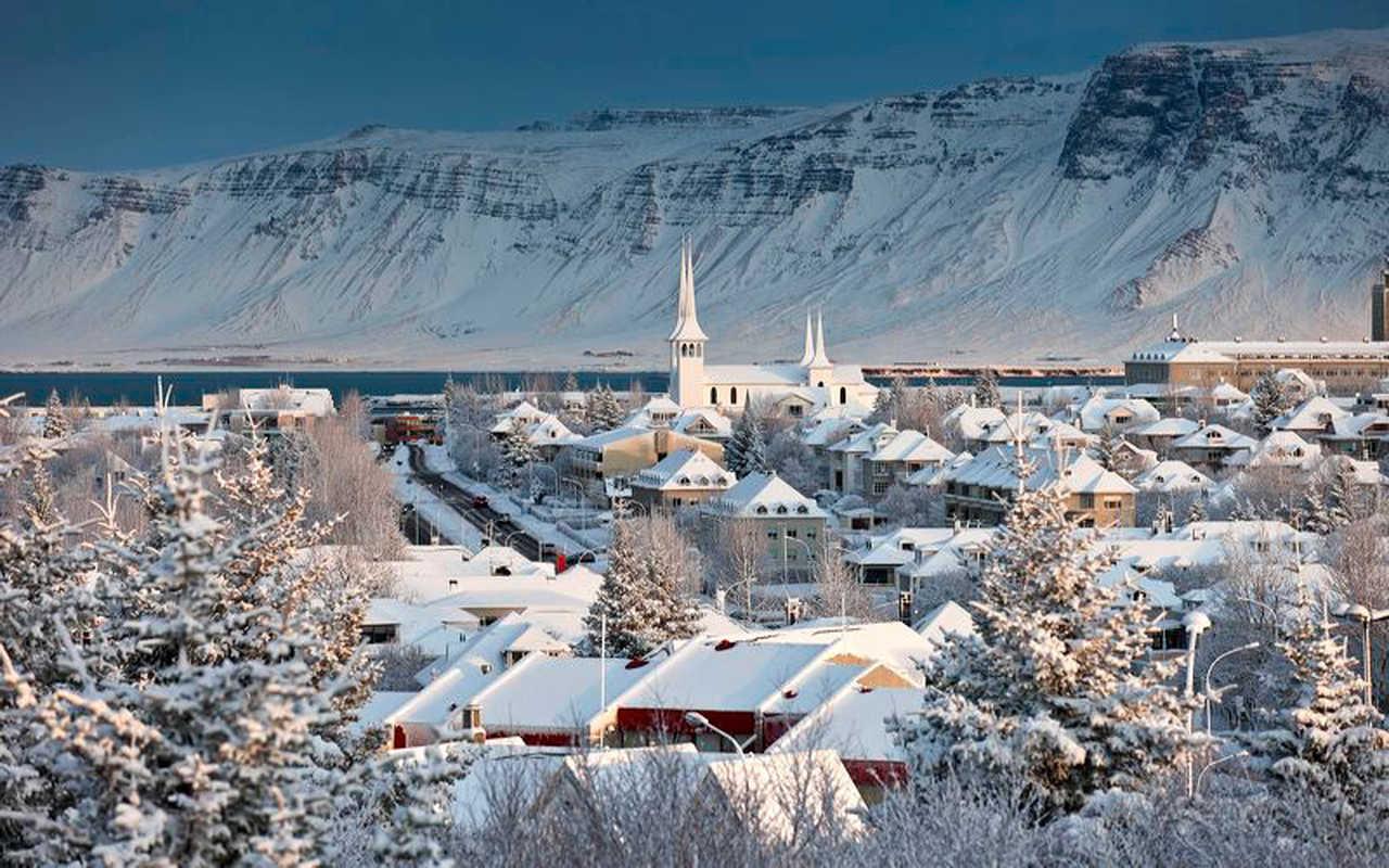 Reykjavik en hiver