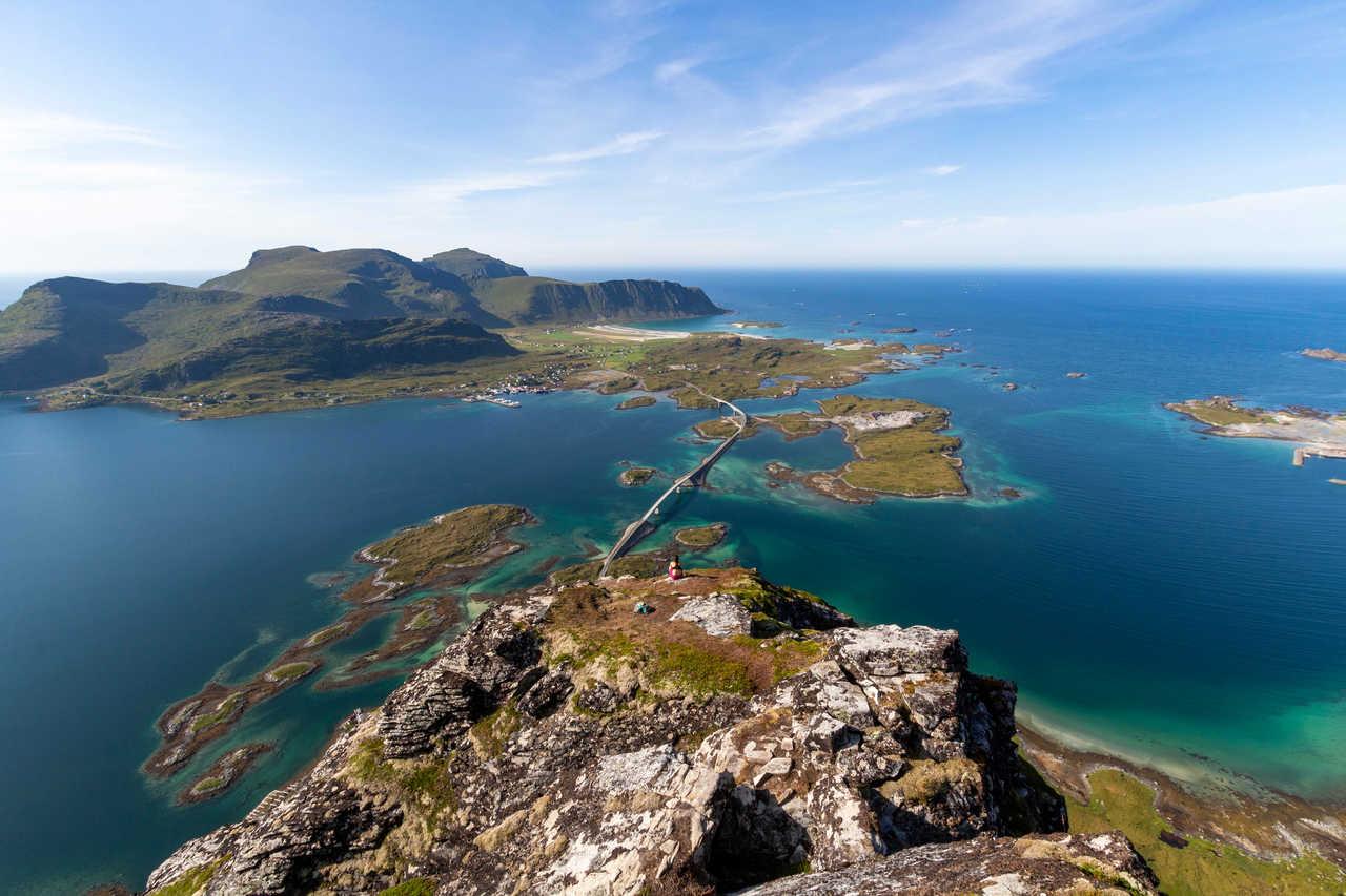 Sommet du Volandstinden, îles Lofoten, Norvège