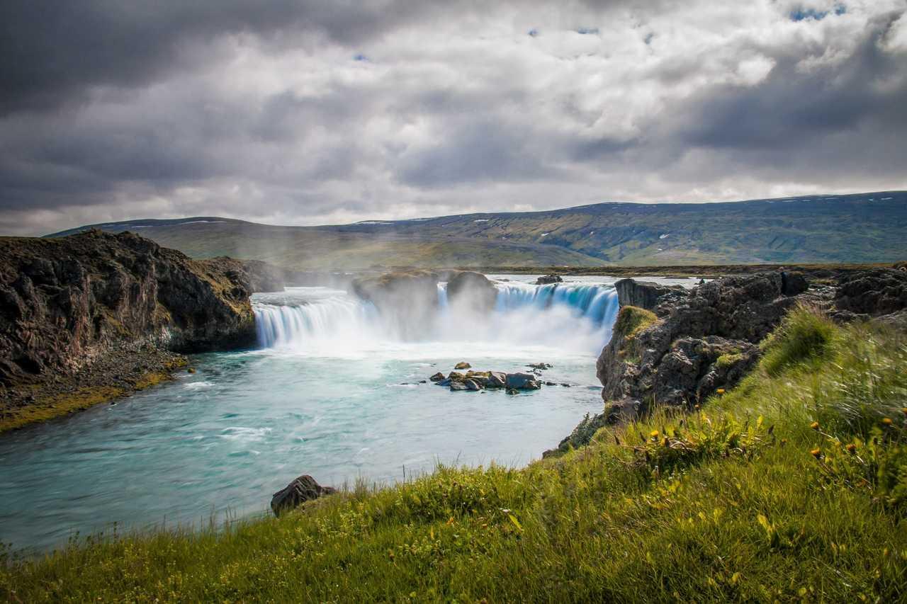 Chutes de Godafoss en Islande