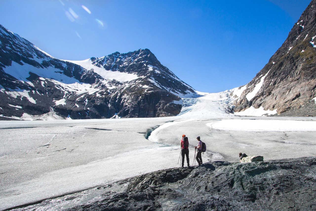 Glacier Steindalsbreen, Alpes de Lyngen, Norvège du Nord