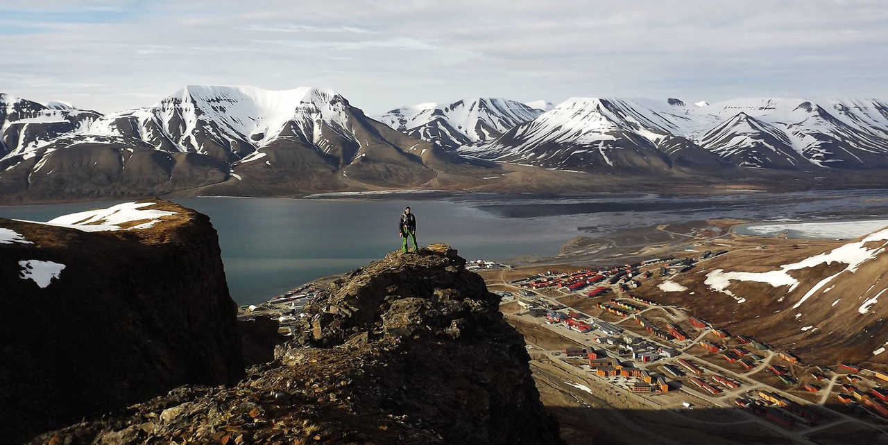 Sur les hauteurs de Longyearbyen