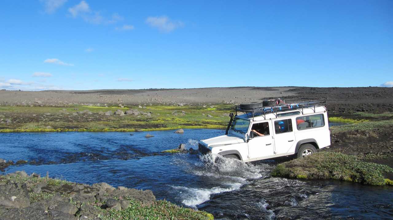 Traversée de gué pendant notre voyage en Islande