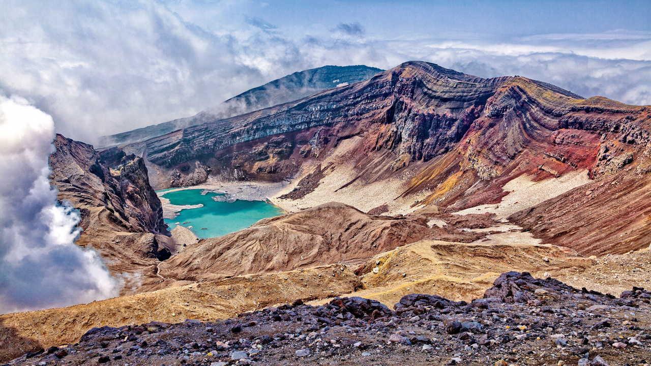 Vallée des geysers dans la réserve de Kronotsky, Kamchatka