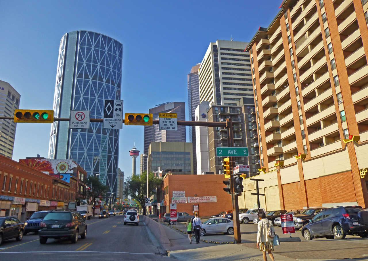 Ville de Calgary dans l'Alberta au Canada