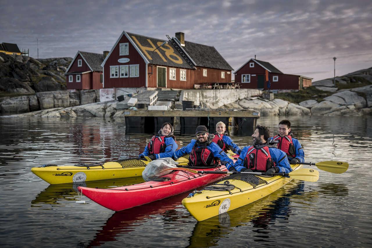 Voyage en groupe au Groenland en kayak