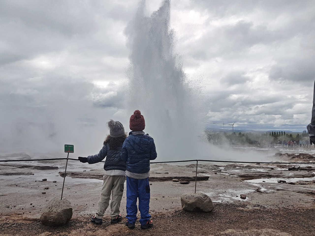 Photo d'une famille en Islande