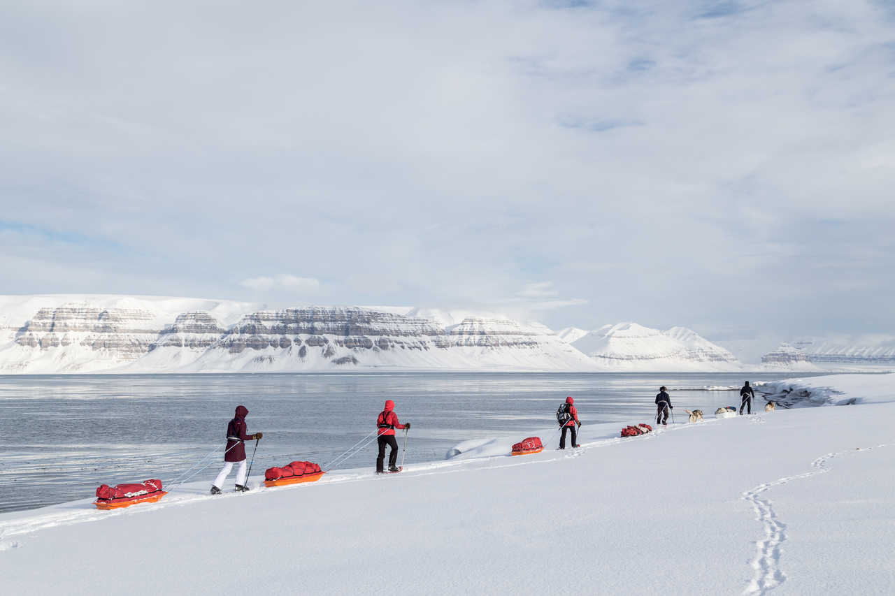 Voyage pays nordique hiver Svalbard