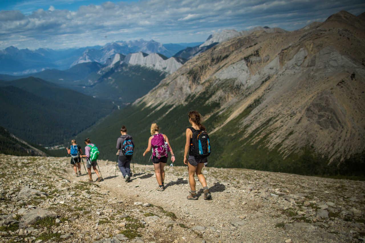 Randonnée dans les Rocheuses au Canada