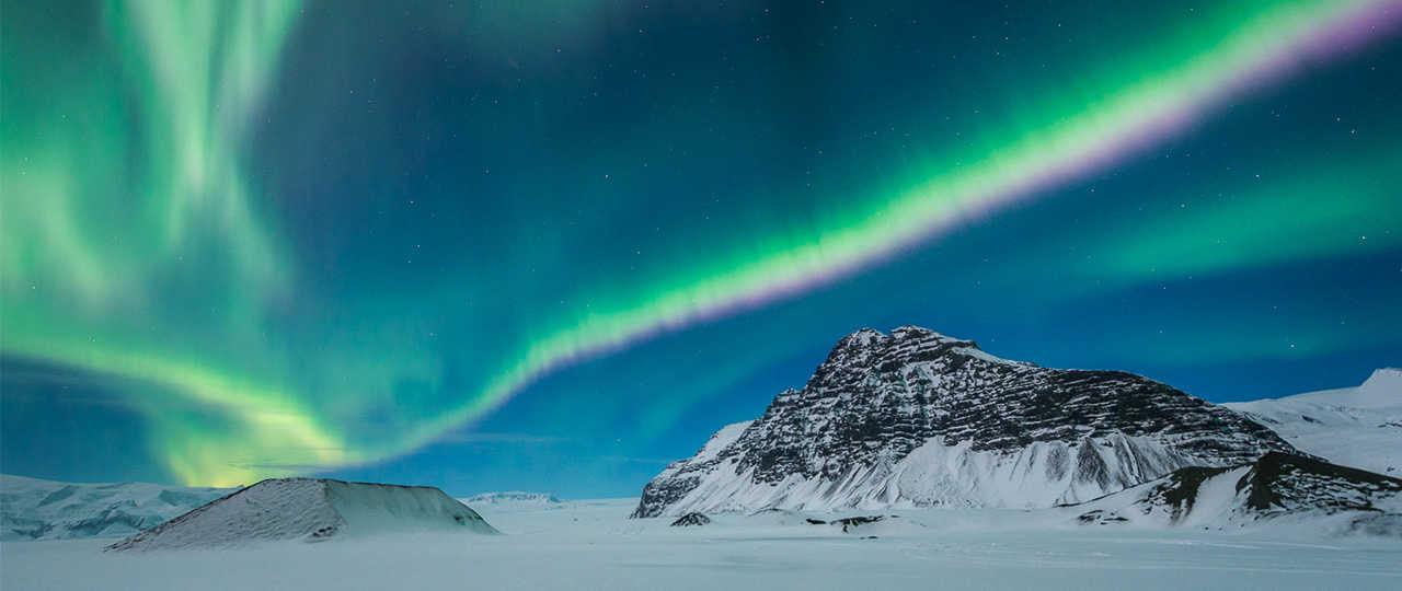 Aurores boréales dans le Sud de l'Islande