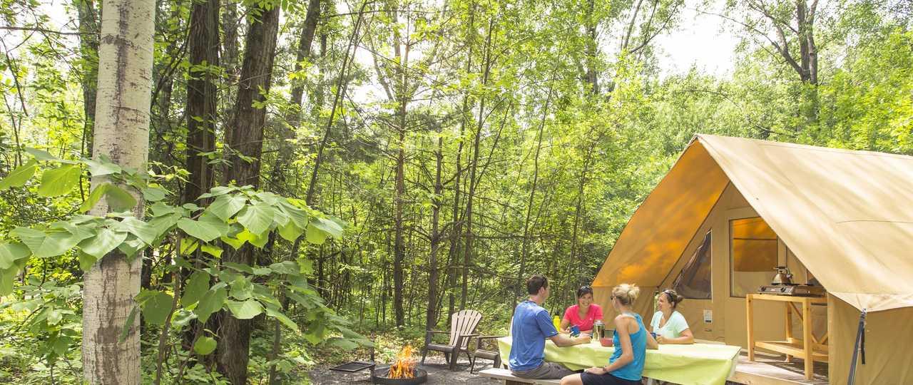 Camping au québec l'été