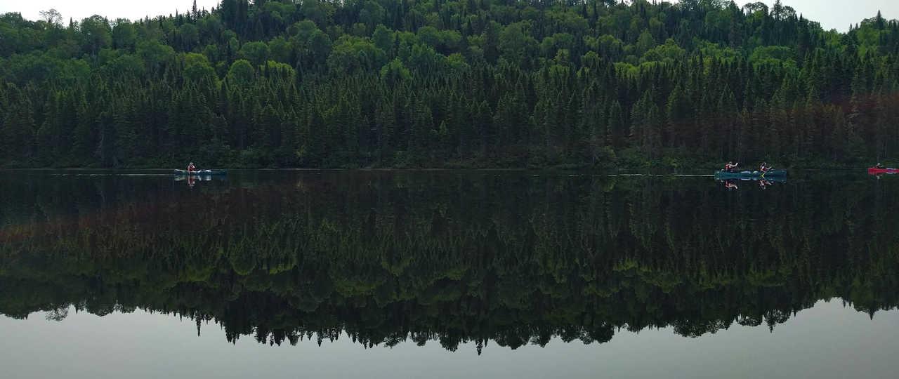 Canoë au Canada, sur la rivière Batiscan