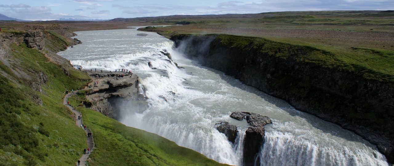 Cascade Gullfoss en Islande