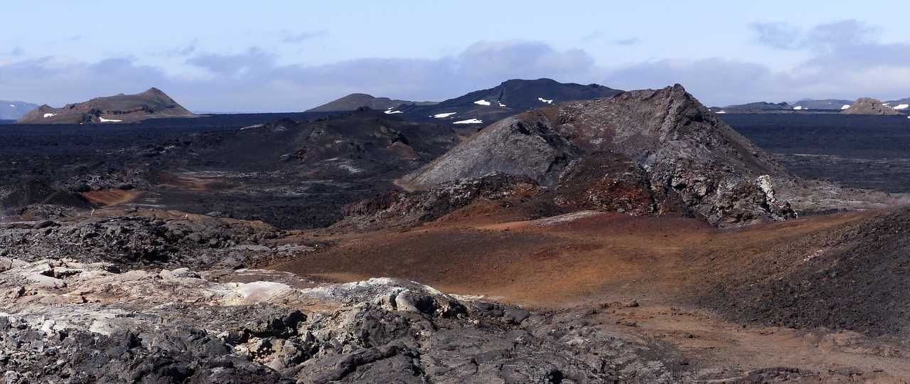 Photo d'un champ de lave en Islande