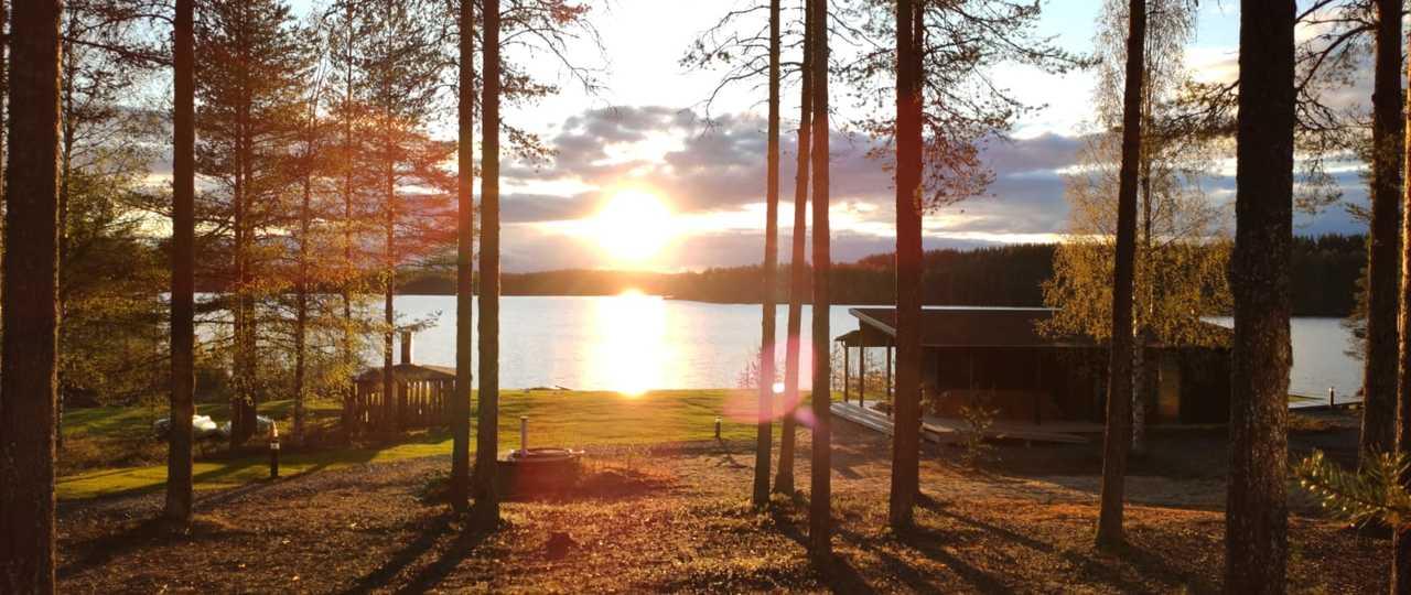 Coucher de soleil en Finlande l'été