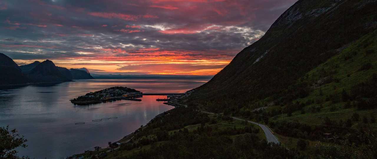 Coucher de soleil sur les fjords