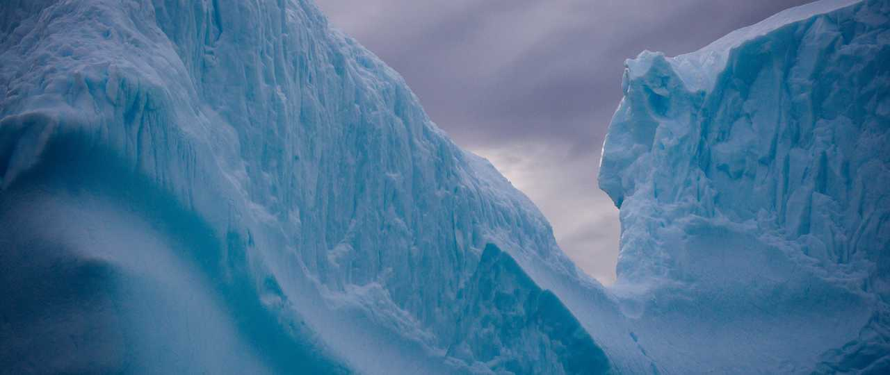 Photo d'un iceberg en Antarctique