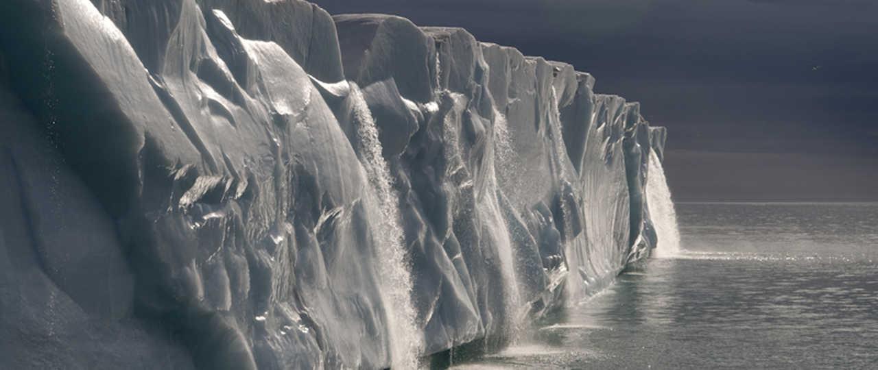 Photo d'un iceberg au Spitzberg
