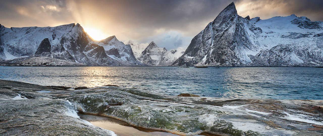 Dans les fjords de Reine, Lofoten, Norvège du Nord