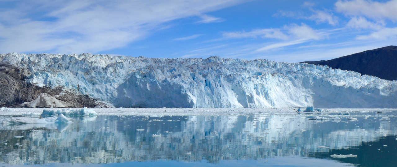 Glacier en Arctique, Groenland