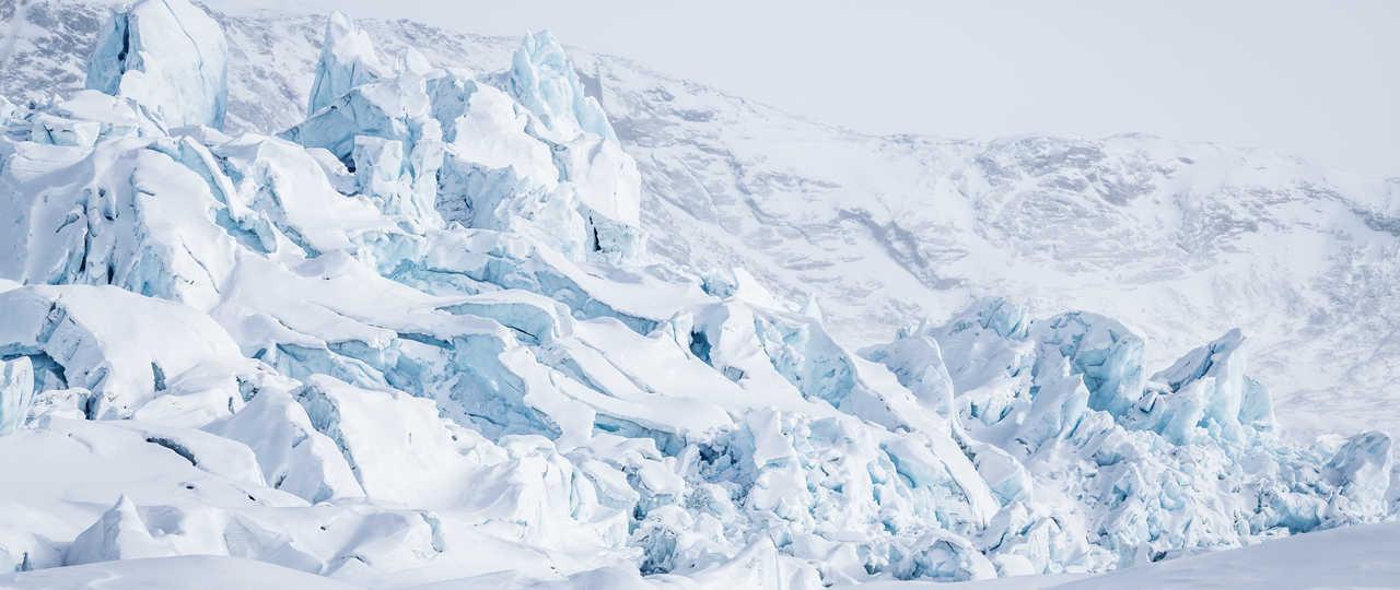 Glacier au Groenland en Hiver