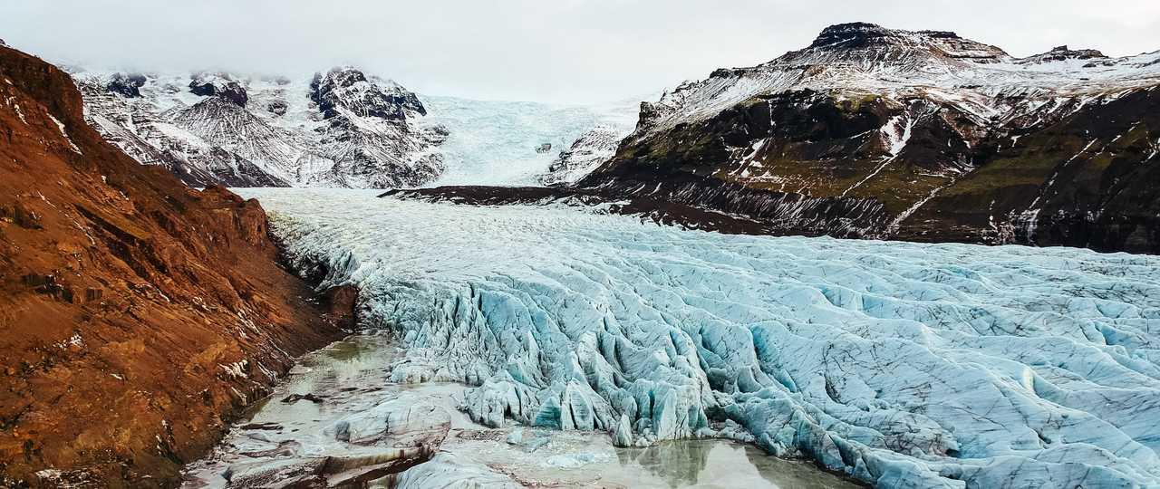 Glacier du Vatnajokull islandais