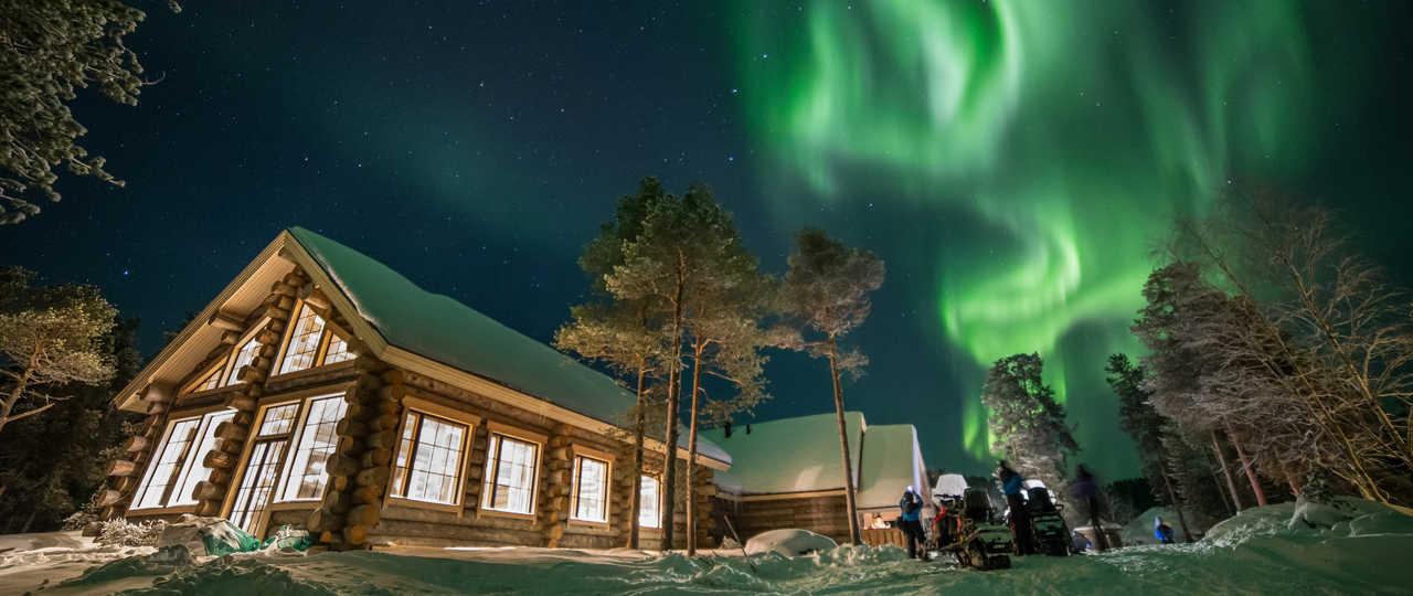 hébergement Finlande en hiver