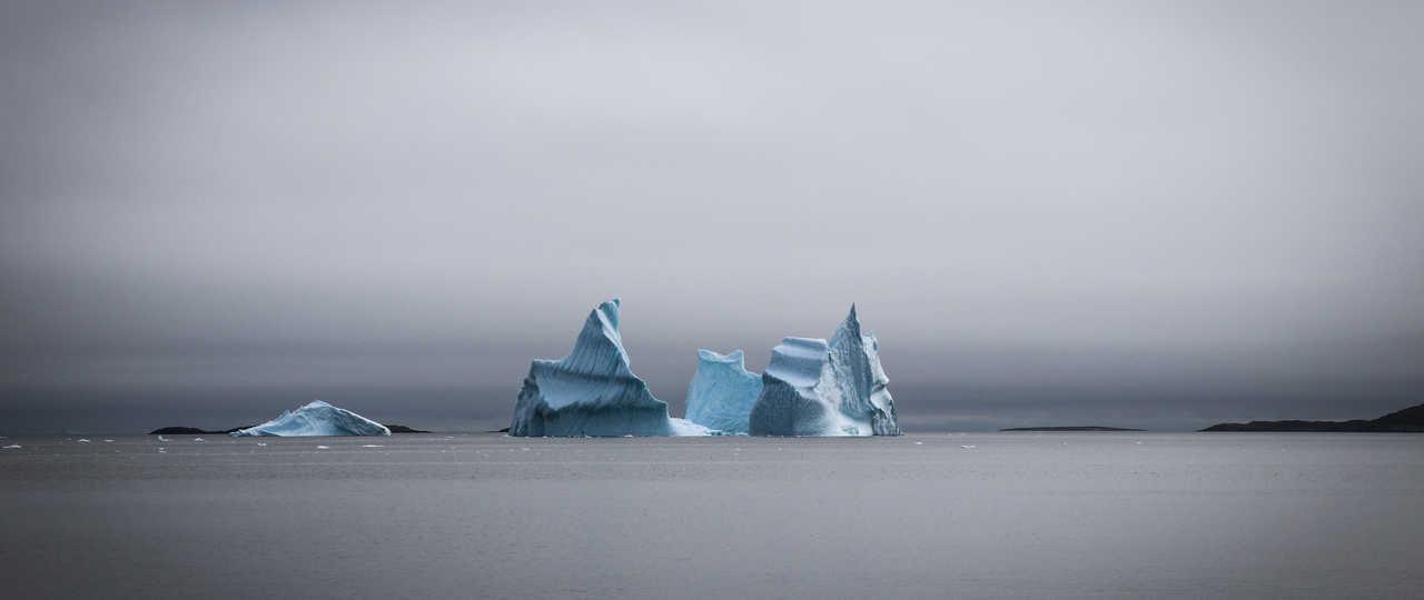 Icebergs au Groenland