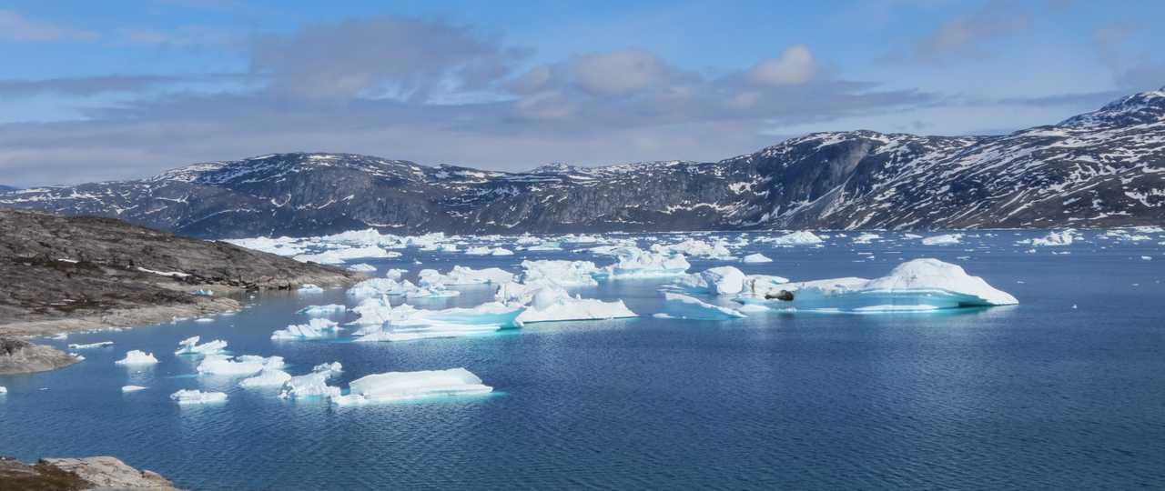 icebergs baie de Disko Groenland