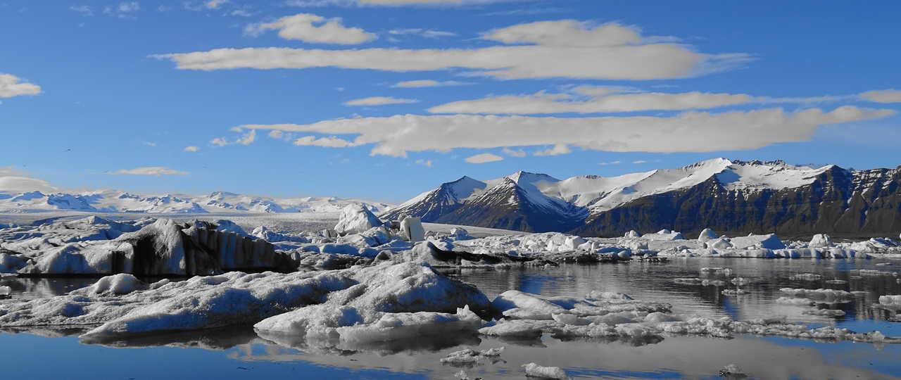 Icebergs du Jokulsarlon en islande