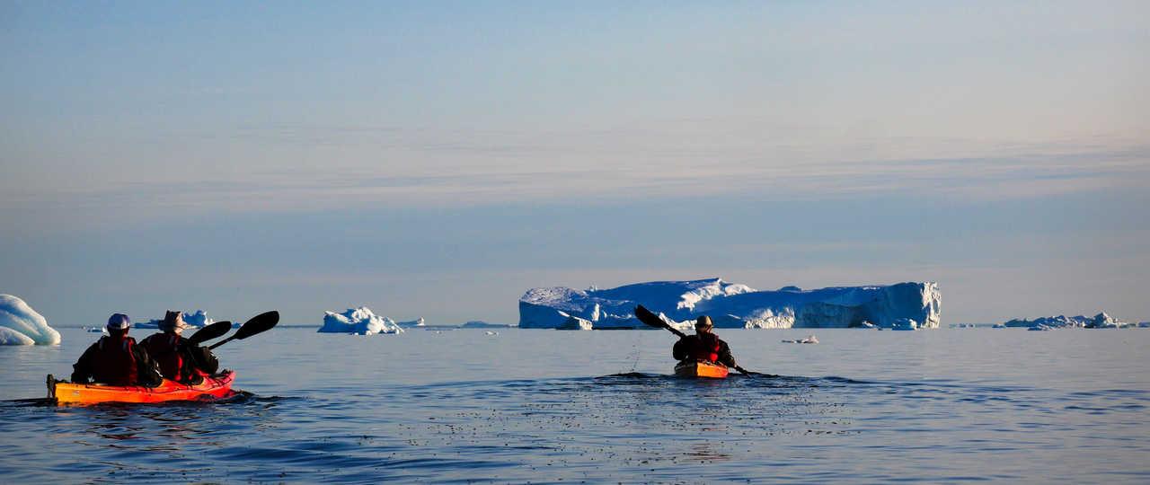 kayak de mer au Groenland