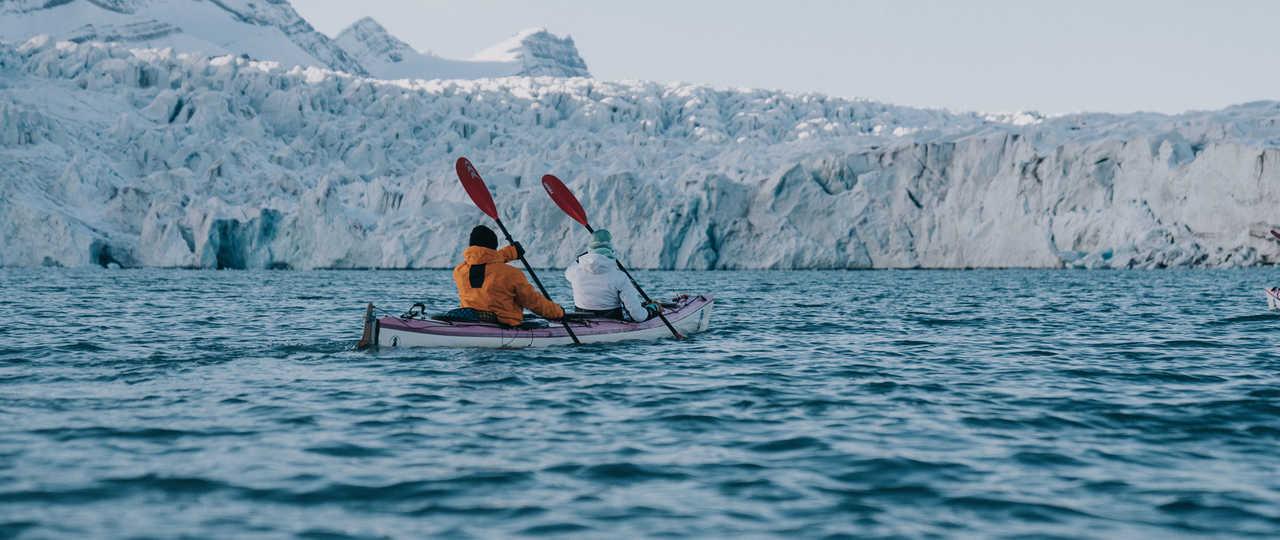Kayak de mer en Arctique, Svalbard