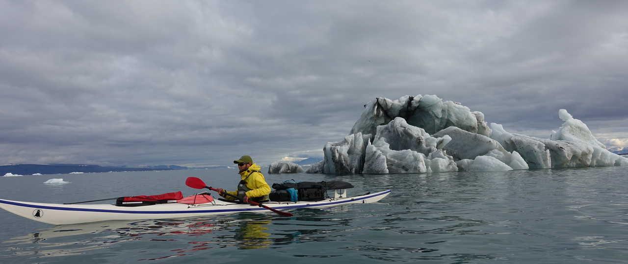 Kayak et iceberg, Yannick Long